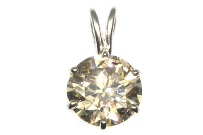 4.19ct Round Diamond Pendant