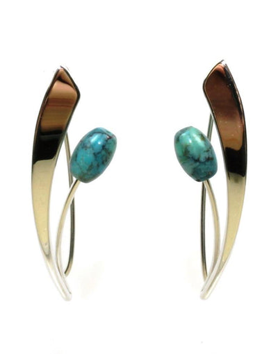 Tulip Turquoise Earrings, 5320
