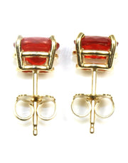 Oval Sunstone Stud Earrings, 6097