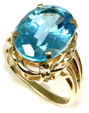 Oval Blue Topaz Ring, 6101