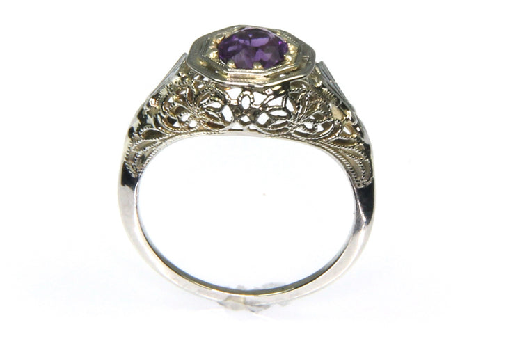 Vintage Filigree Amethyst Ring
