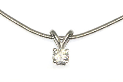 .20ct Diamond Solitaire Necklace