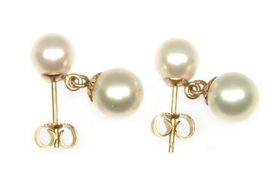 Akoya Pearl Stud Dangle Earring