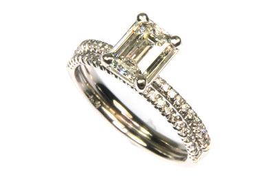 1.54ctw Emerald Cut Diamond Ring