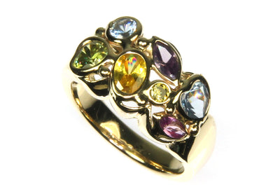 Multi Color Gemstone Ring