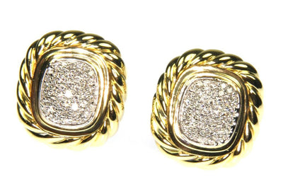 David Yurman Diamond Earrings