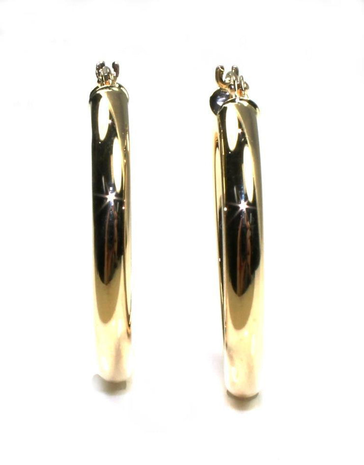 25mm Round Gold Hoop Earrings, 4752