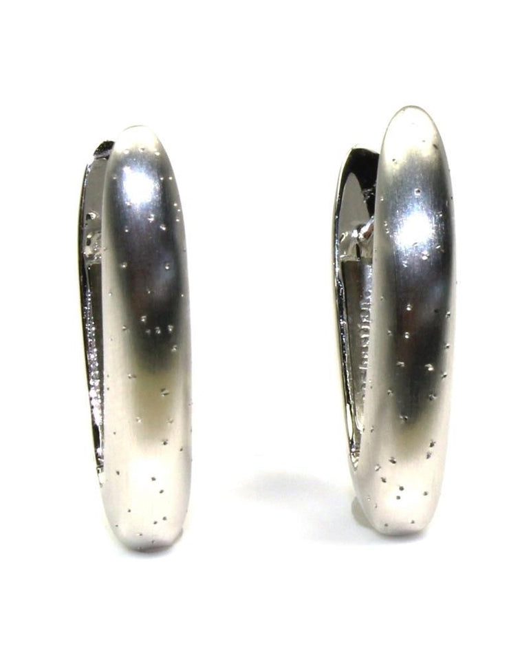 Diamond Dust V Hoop Earrings, 5669
