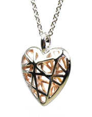 Shiny Caged Heart Necklace, 5671