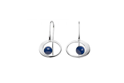 Lapis Paper Moon Earrings