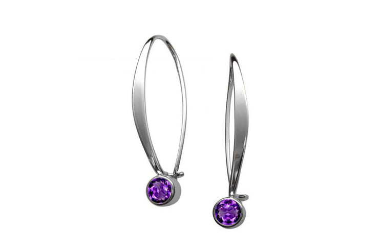 Sway Amethyst Earrings