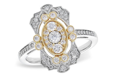 Diamond Vintage Style Ring