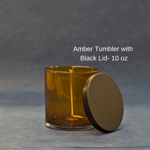 Load image into Gallery viewer, Amber Tumbler with Black Lid - 10 oz.