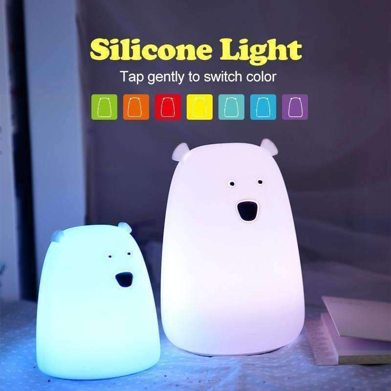 Bear Silicone LED Night Light-Purfect Gifts