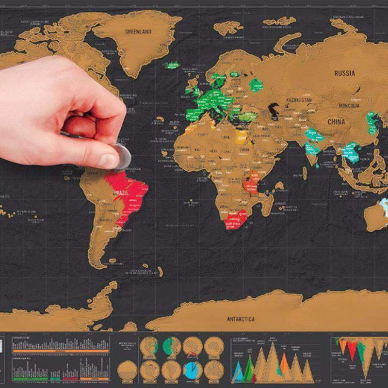 Deluxe Edition World Scratch Map-Purfect Gifts