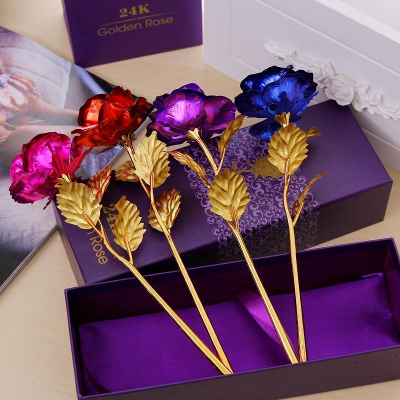 Everlasting Gold Rose-Purfect Gifts