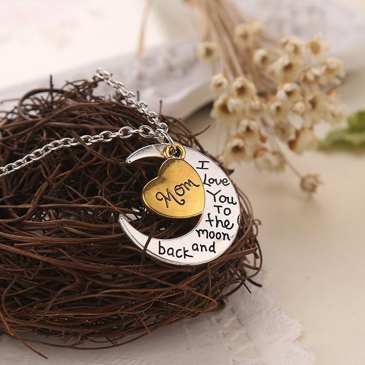 """I love you to the moon and back"" Necklace-Purfect Gifts"
