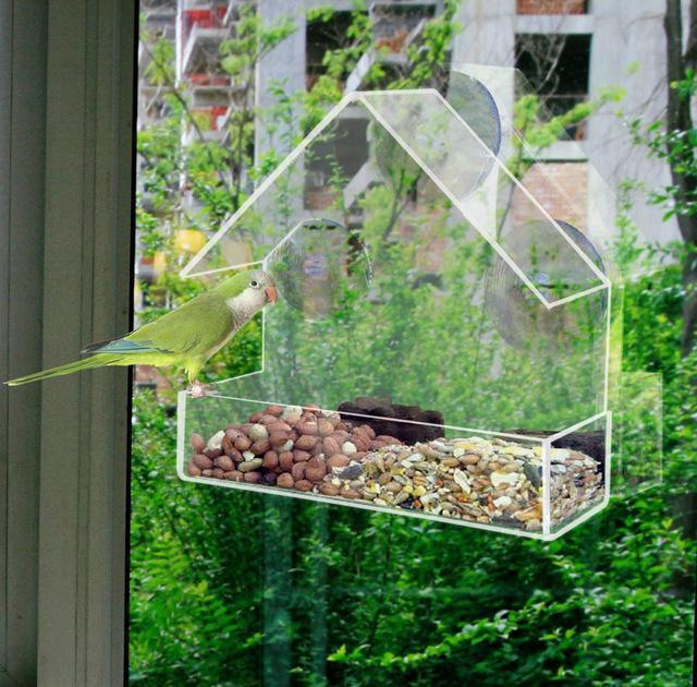 Little House Clear Bird Feeder-Home-Purfect Gifts