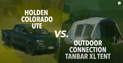 Tanbar Air XL Tent vs. Holden Colorado Ute by Outdoor Connection