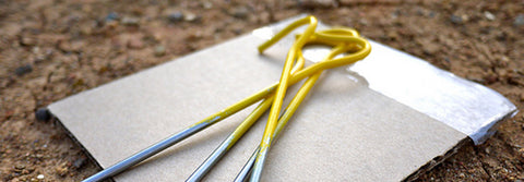 How to avoid loosing your tent pegs