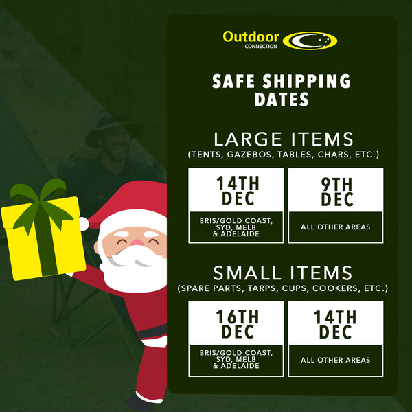 Outdoor Connection Safe Shipping Dates