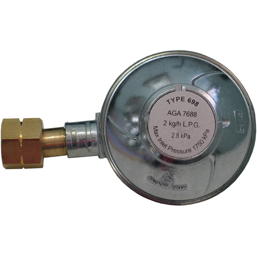Outdoor Connection Regulator 90 Deg 3/8 BSP LH 3/8 NPTF Outlet
