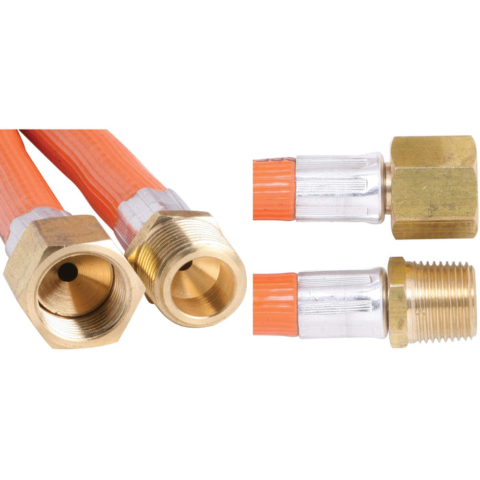 Outdoor Connection Hose Gas PVC 3/8 BSPM x 3/8 SAEF