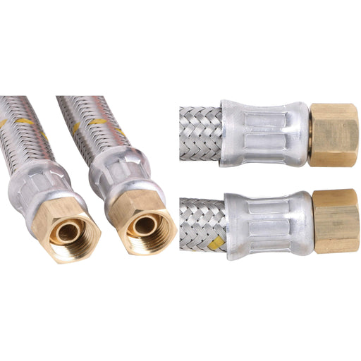 Outdoor Connection S/Steel Braided 10mm Gas Hose 1/4 BSP FC x 1/4 BSP FF x 600mm - Outdoor Connection
