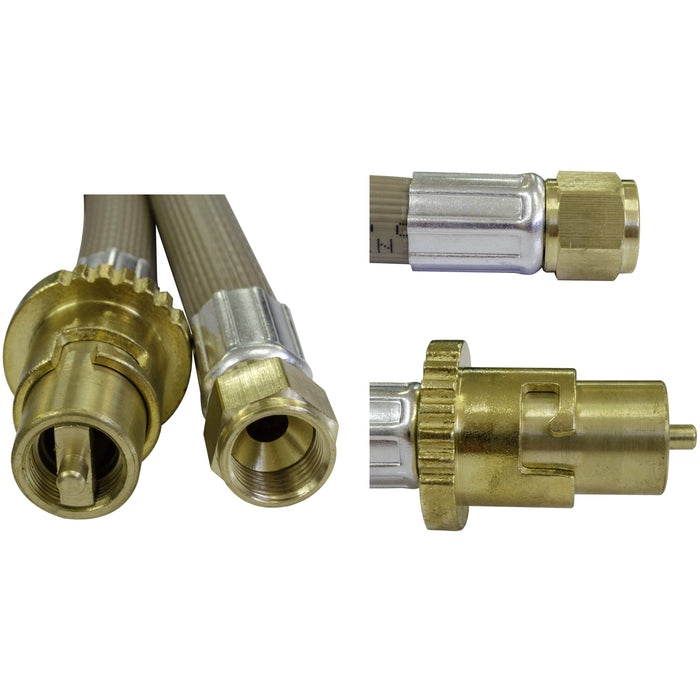 Outdoor Connection L/P Hose 3/8SAE x Bayonet M 3m