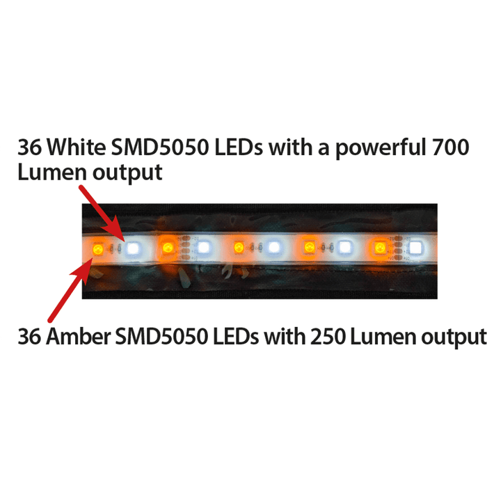 Outdoor Connection Amber LED Power Strip 1200