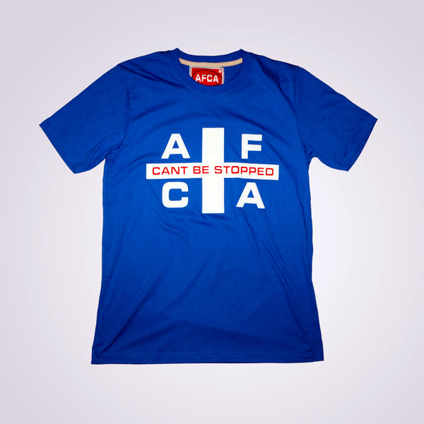 T-shirt FLAG blauw/wit