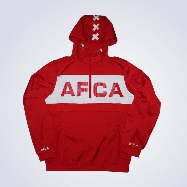 Windbreaker rood half zip