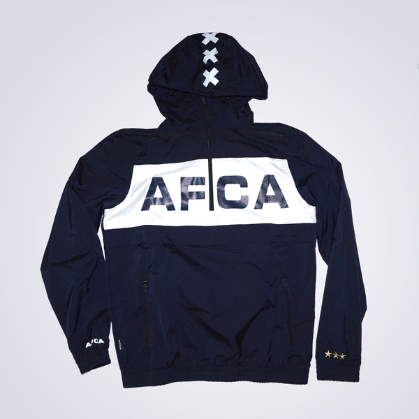 Windbreaker navy half zip