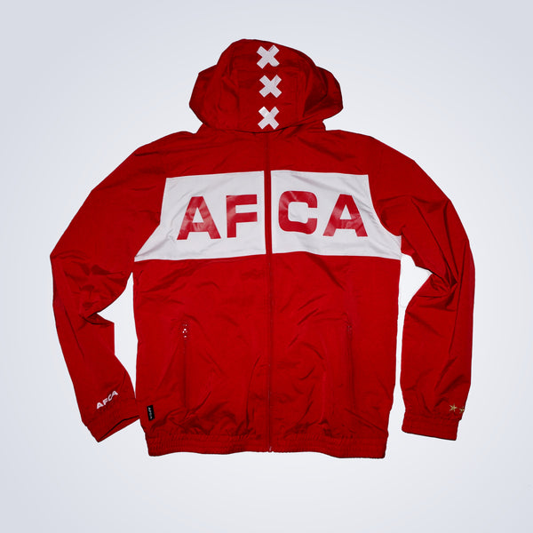 Windbreaker rood AFCA full zip