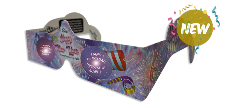 Happy New Year- 3D Glasses