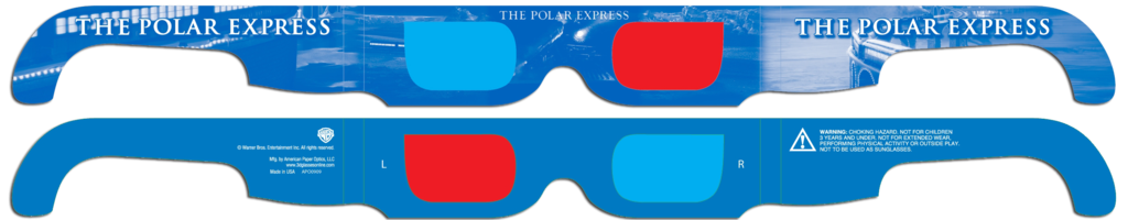 Polar Express 3D Glasses