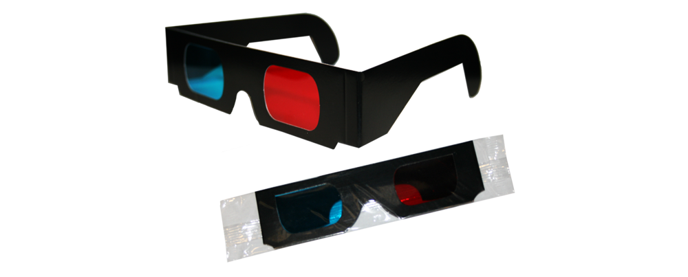 3D Anaglyph - Black (Bagged)
