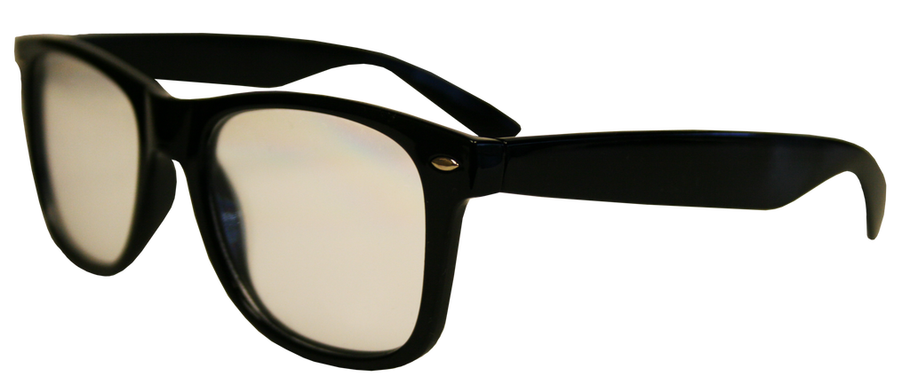 Black Plastic Diffraction Glasses