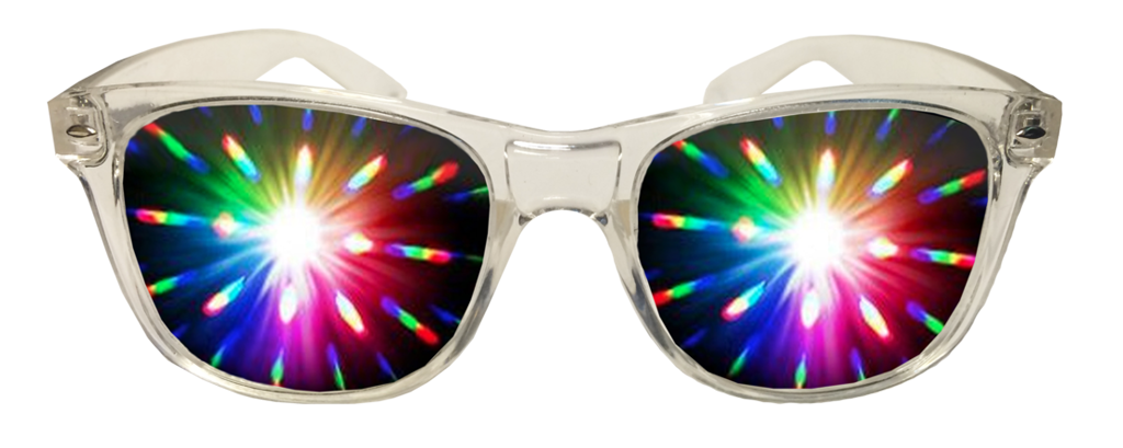 Clear Plastic Diffraction Glasses