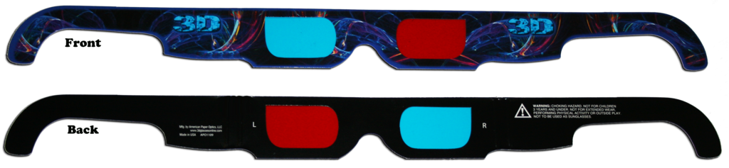 """Electric"" Anaglyph Glasses"