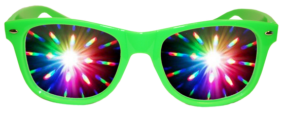 Green Diffraction Glasses