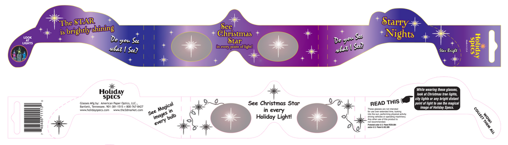 Christmas Star Holiday Specs