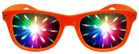 Orange Plastic Diffraction Glasses