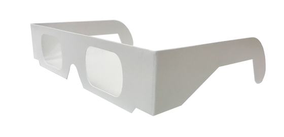 Plain White Diffraction Glasses