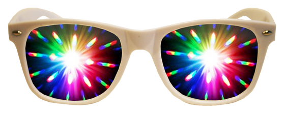 White Plastic Diffraction Glasses