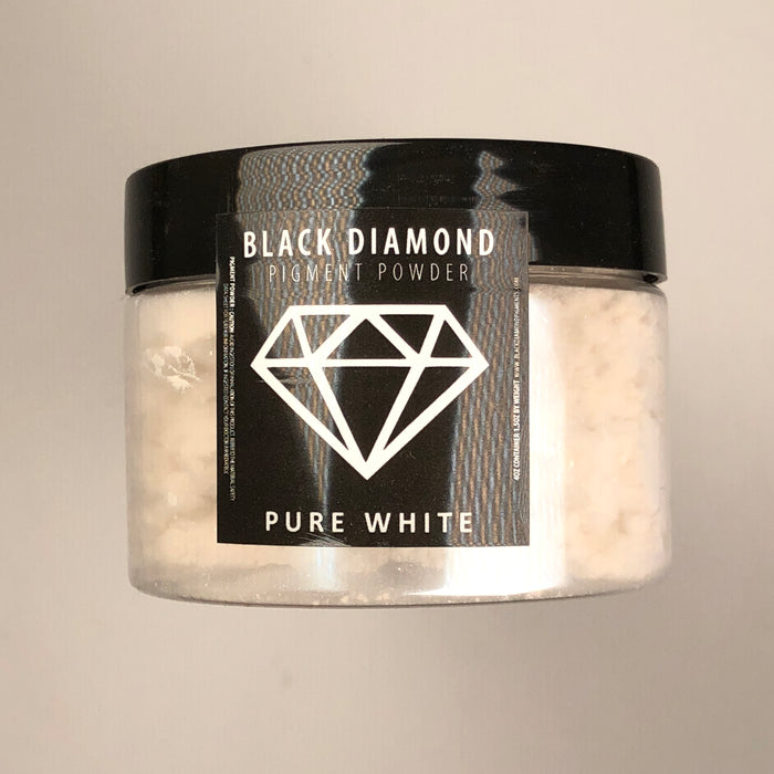 Pure White- Black Diamond Metallic Pigment