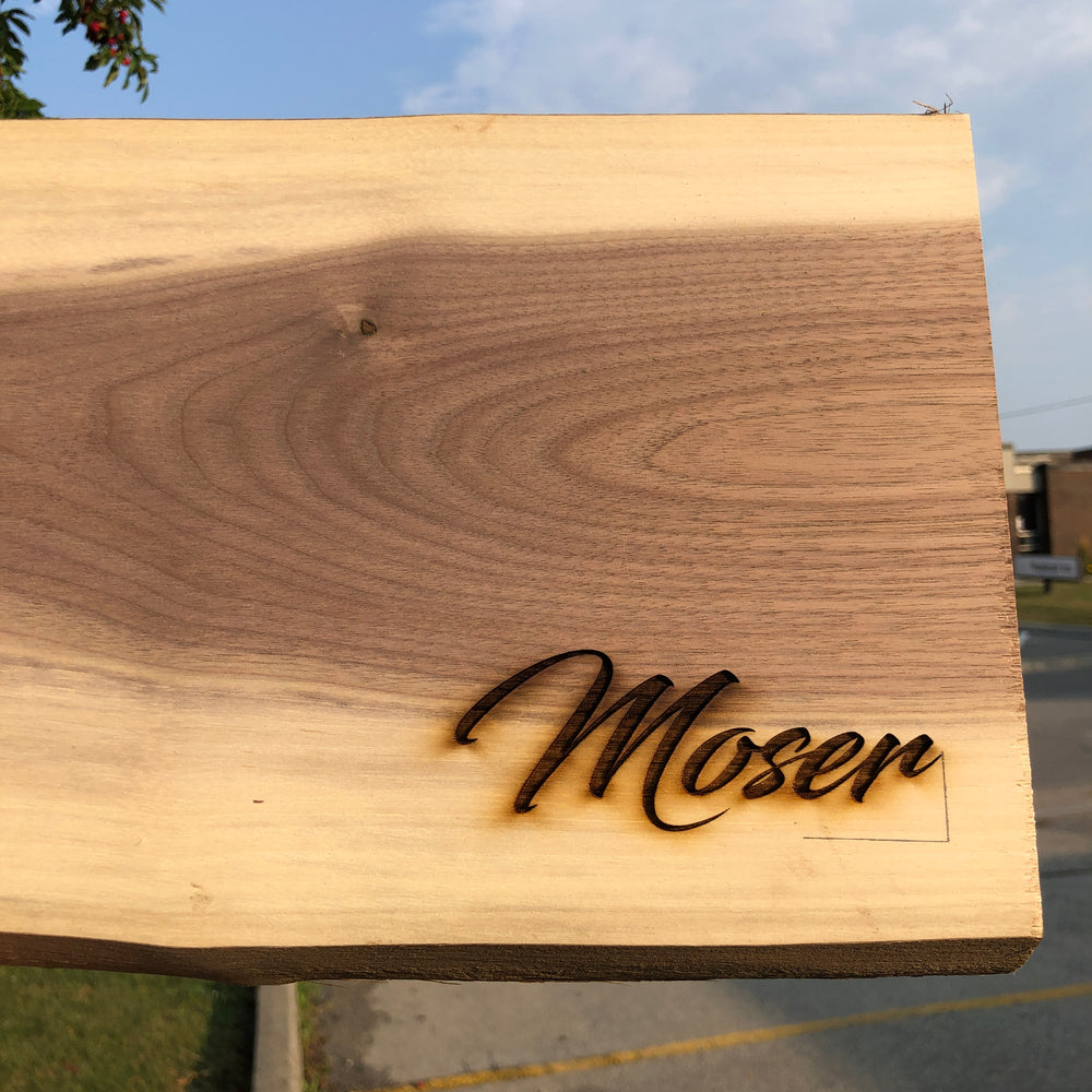 Custom Engraved epoxy board. Perfect DIY project.