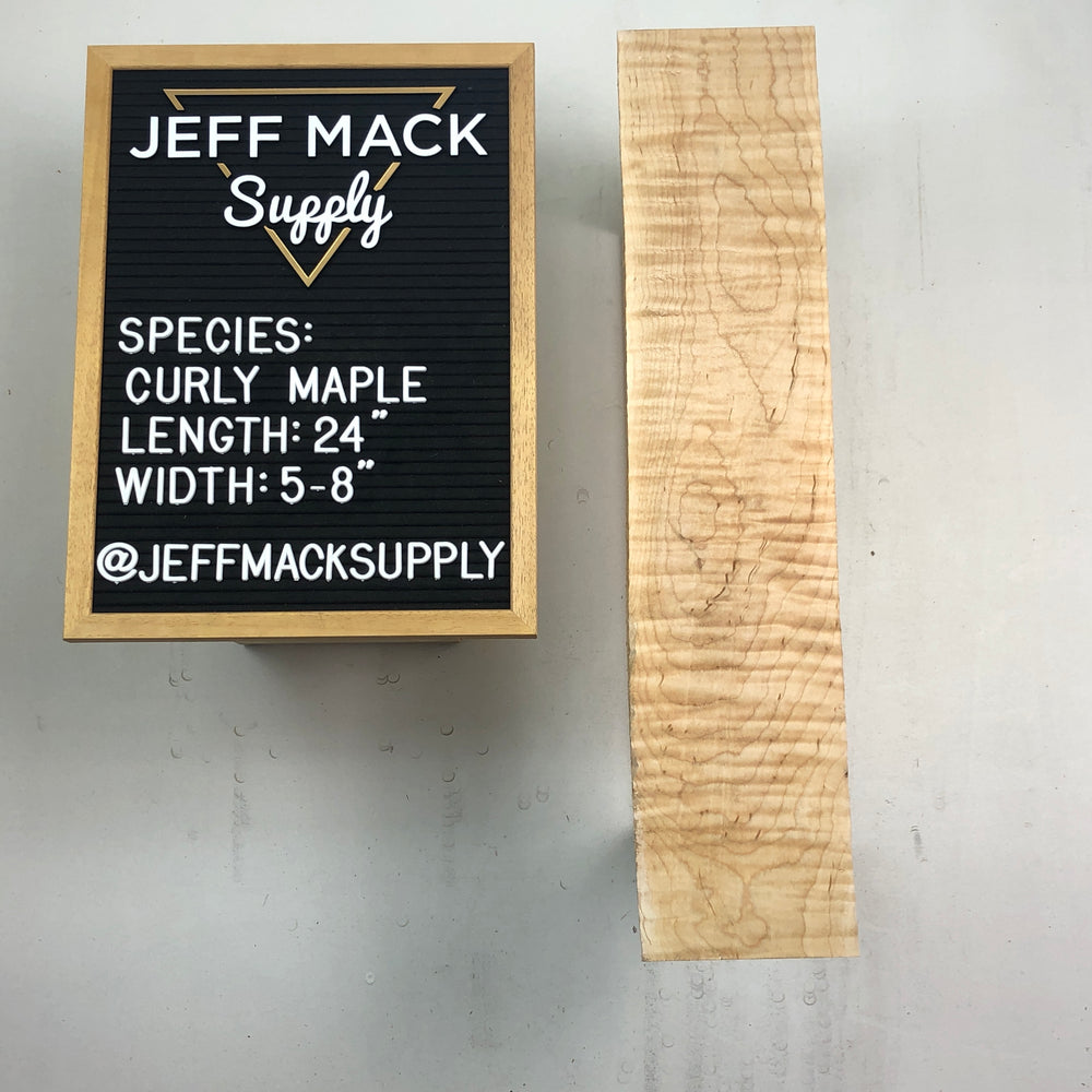 DIY Curly Maple Dimensional Boards