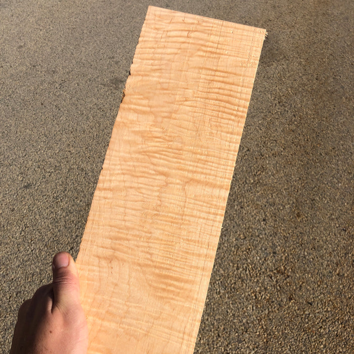 "DIY Curly Maple Dimensional Boards 5""- 8"" Wide"