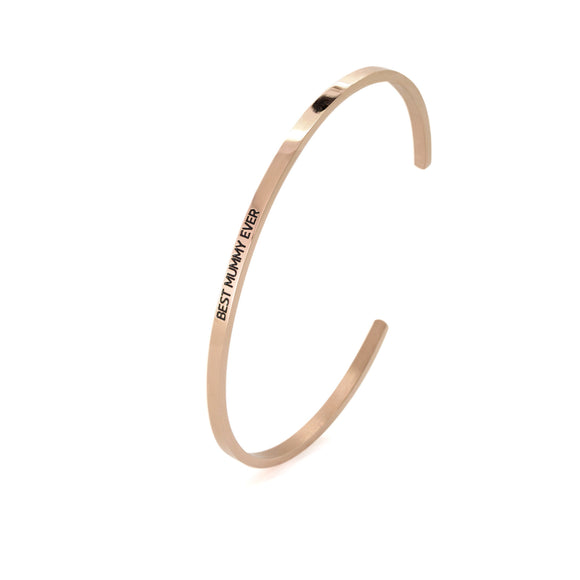 Rose Best Mummy Ever Bangle - DayDream Jewellery